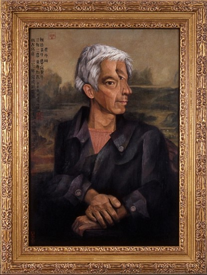 Hongtu Zhang, Self Portrait in the Style of the Old Masters 2004, oil on wood panel
