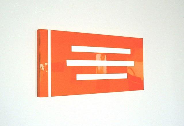 Robert Zoell, No Title 2000, enamel on metal