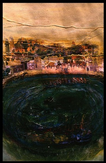 Raffic Ahamed, The Great Bath 2006, mixed media collage