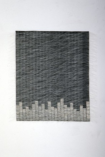 Adela Akers, Border 2006, linen, horsehair, metal foil
