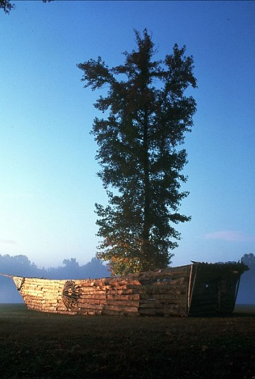 Alzaruba, Hunting Light 2001, wood, tree, mulch, quotes