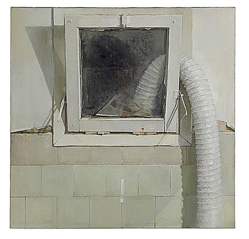 Shira Avidor, Bathroom Window 2004, oil on canvas