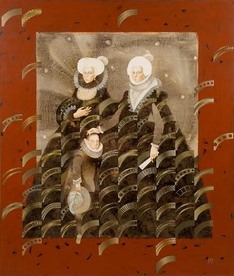 Igor Kozlovsky and Marina Sharapova, Secrets of the Madrid Court 2006, oil on canvas