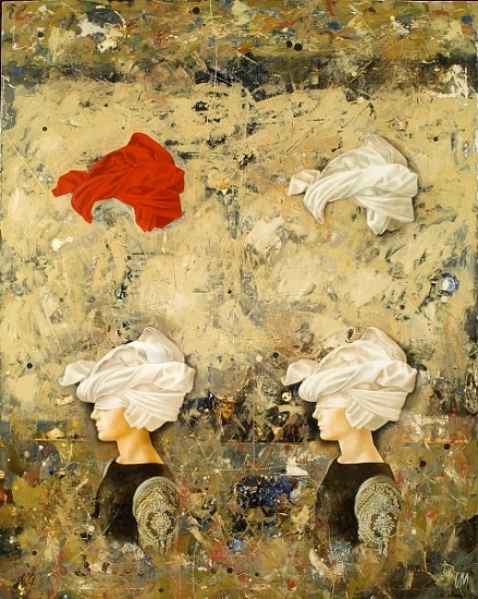 Igor Kozlovsky and Marina Sharapova, Two Heads Are Better Than One 2005, oil on canvas
