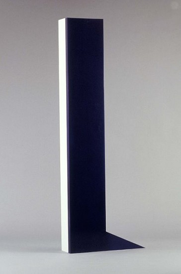 Deborah Whitman, A Door Partly Open - An Object that Contains Infinity for a Moment 1990, wood, blue lacquer