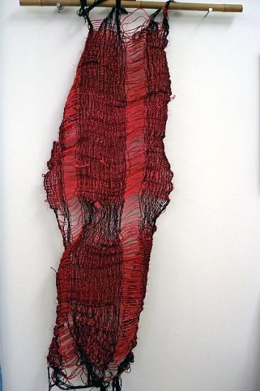 Cynthia Alberto, Manu 2008, rope, jute rug, yarn, woven on floor loom