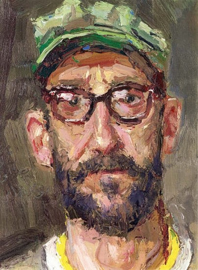 David Andrus, Man With Hat - Self Portrait 2000 - 2001, oil on canvas