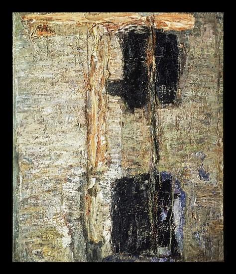 Eugenijus Cukermanas, Station 2001, oil on canvas