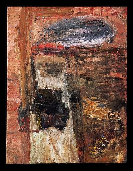 Eugenijus Cukermanas, Laterna 2001, oil on canvas