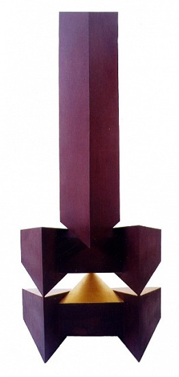 Ernesto Alvarez, Obelisco V iron and gold leaf