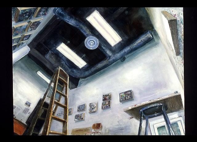 Amer Kobaslija, Poetics of Space 2005, oil on wood