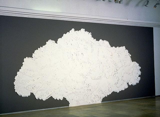 Andreas Kocks, Paperwork #402 2004, paper, wallpaint