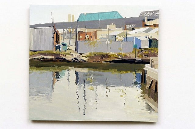 Elizabeth O'Reilly, Green Tarp Smith and 9th St. 2003, oil on panel
