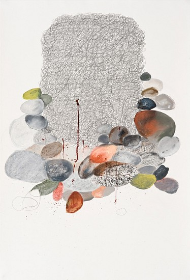 Rhoda London, Untitled 2009, pastel, ink and acrylic