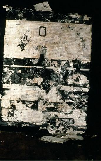 Daniel Pittman, The Fallen One 1994, acrylic, coffee, computer paper
