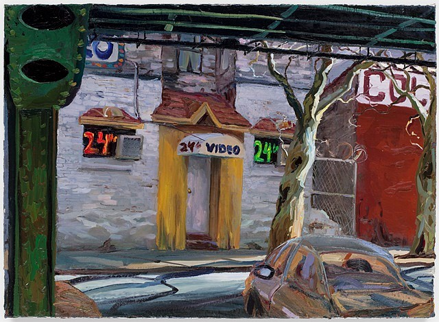 Neil Berger, Video Store 2010, oil on canvas