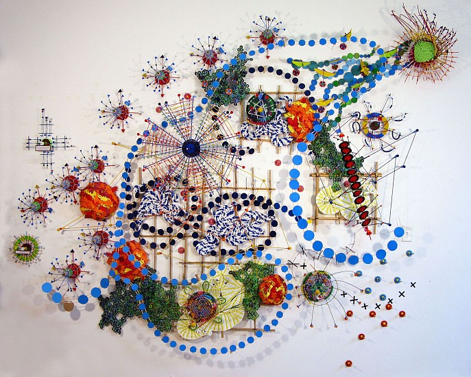 Nathalie Miebach, Changing Waters - Gulf of Maine 2011, mixed media, data