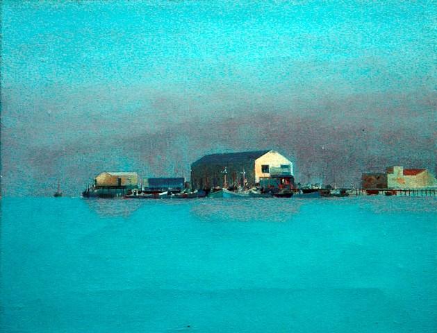 Arthur Cohen, Town Wharf 2003, oil
