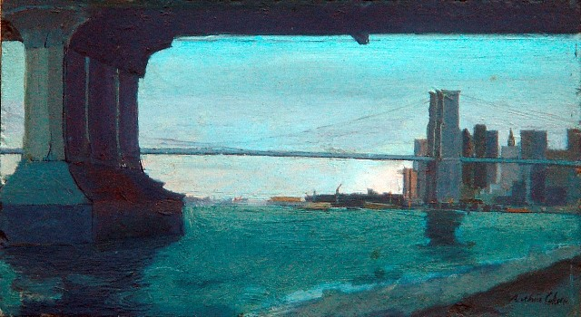 Arthur Cohen, Brooklyn Bridge 2002, oil