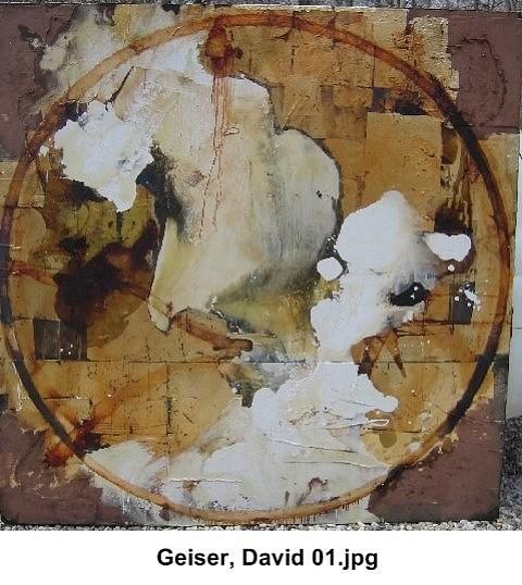 David Geiser, Gold Cenote 2007-8, oil, gold leaf pigment, varnish, m/m on board