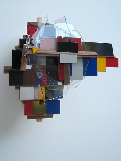 David Hendren, Trophy Object 2008, wood, glass, dibond, wire, paint