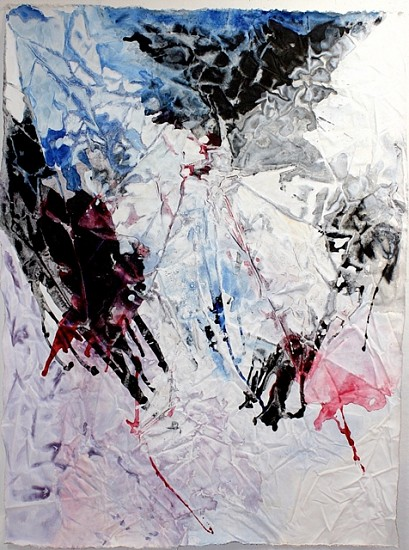 Phyllis Jacobs, Flying Snow 2005, acrylic on canvas