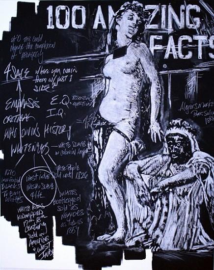 J.C. Lenochan, Melanin Chronicles - Whiteness for Sale 2010, chalk on canvas