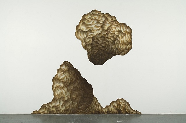 Gina Ruggeri, Double Cavern 2009, acrylic on mylar cut-out
