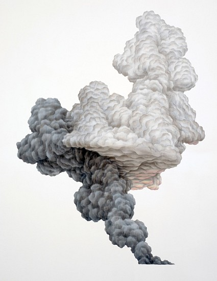 Gina Ruggeri, Cloudsmoke 2007, acrylic on mylar cut-out