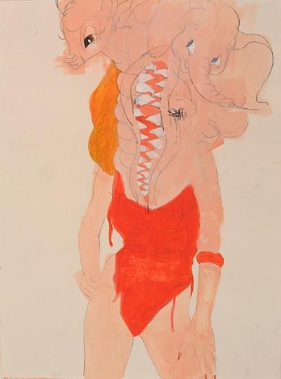 Ginna Triplett, Raquel 2009, carbon, flashe and gouache on paper
