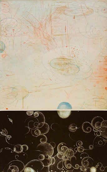 Kazuko Watanabe, Embossed Lights: Indication 2008, multiple color intaglio on paper