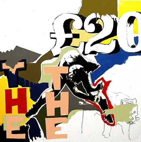 Artur Silva, The The 2007, acrylic on canvas