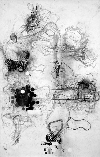 Chuck Holtzman, Seven Hundred 2006, ink and charcoal on paper