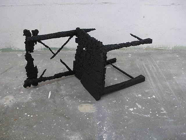 Sasha Serber, Burned Chair 2005, polystyrene