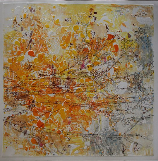 Jacqueline Will, Rose Theory #30 2012, drawing on monotype