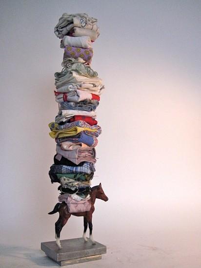 Peter Cole, Li'l Hankie 2008, plastic horse, handkerchiefs