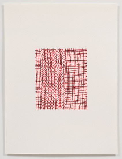 Emily Barletta, Untitled (Pattern 1) 2011, thread and paper
