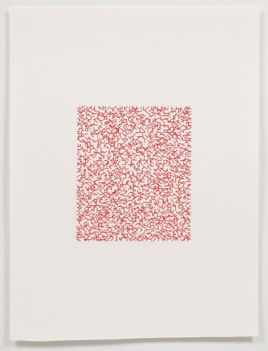 Emily barletta untitled pattern 3 2011 thread and paper 24 x 18