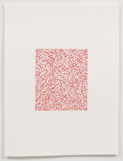 Emily Barletta, Untitled (Pattern 3) 2011, thread and paper