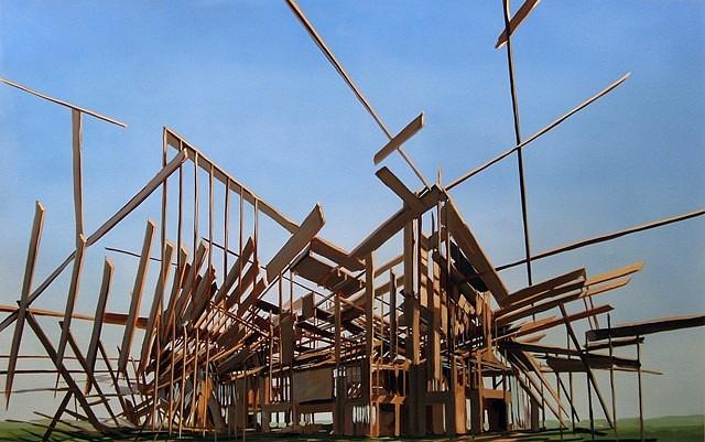 Ben Grasso, Construction Proposal #1 2009, oil on paper