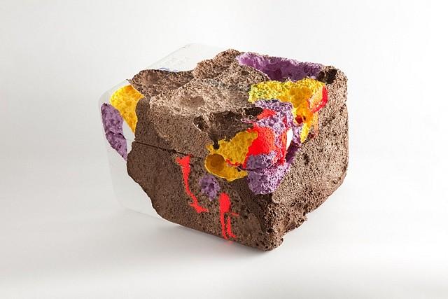 Jenny Heishman, Cornerstone 2010, found styrofoam cooler, enamel paint