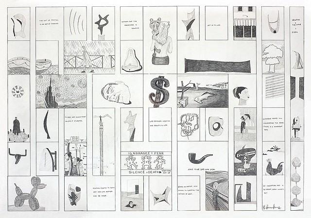 Pavan Kumar Machavarapu, Thought + Idea = Art 2010, pencil drawing on paper