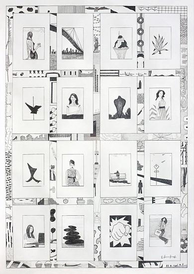 Pavan Kumar Machavarapu, Urban Space - 8 2010, pencil drawing on paper