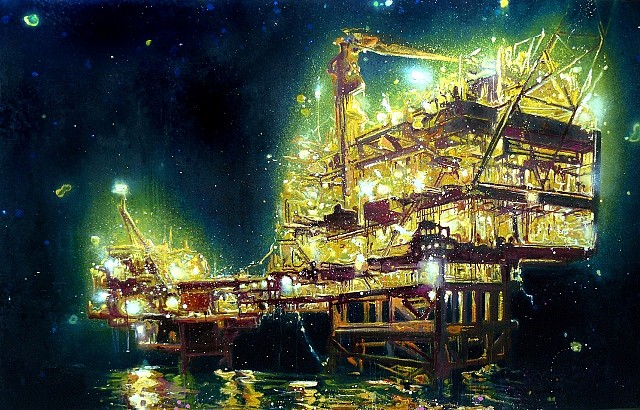 Armando Marino, Oil Platform 1 2009, oil on canvas