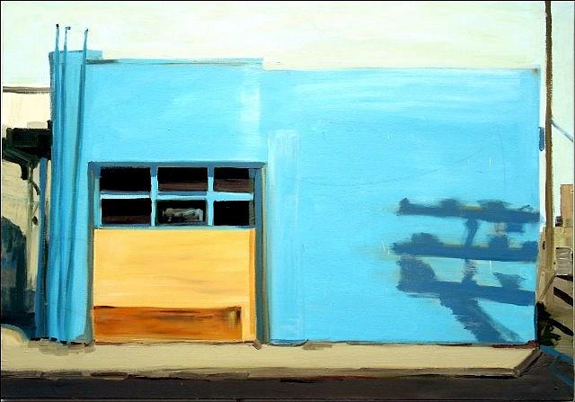 Nancy Mitchnick, Blue Garage 2009, oil on canvas