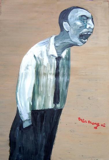 Tran Trong Vu, The Man Who Cried 2008, oil on canvas