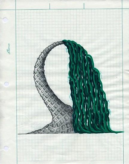Mel Watkin, Trunk Show; Wept 2010, pencil, pen, acrylic on graph paper