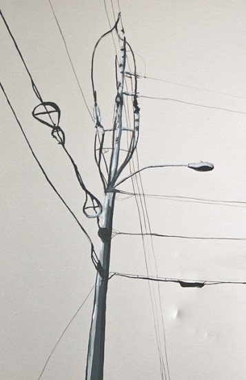Laura Spalding Best, Every Telephone Pole on Roosevelt Street #3 of 18 2011, oil on metal