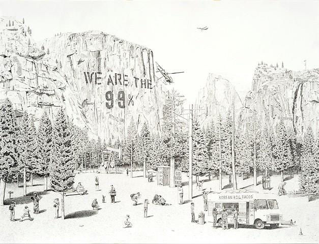 Jennifer Celio, NIMBY (National Park) 2012, graphite pencil on paper