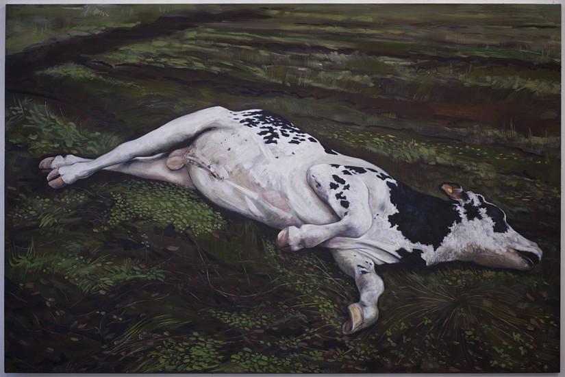 Rita Duffy, Bull Market, Ireland 2011, oil on linen